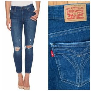 Levi's | 721 High Rise Distressed Skinny Jean 26